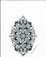 Mandala shield of life tattoo design by RoxenaBernardi
