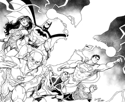 Justice League by LucianoVecchio