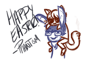 happy easter by ThePhantomDragon
