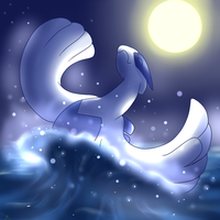 Lugia's Midnight Breach by MsBeka