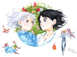 Howl's Moving Castle: Cute Couple by Nick-Ian