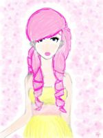 'Humanized Fluttershy' (A My Little Pony request) by fictionaloutcomes