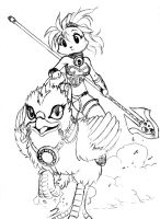 Kitty...to the rescue by chochi