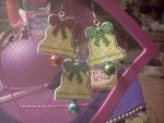 Xstitch Jingle Bell Earrings by Sew-Madd