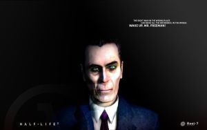 Half-Life 2 Wallpaper G-ManBIG by McFlyWalker