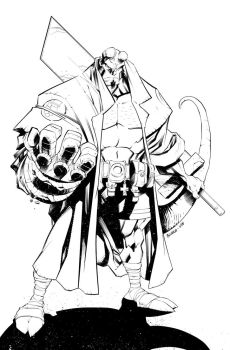 Mike Bowden: Hellboy Ink by WEB99