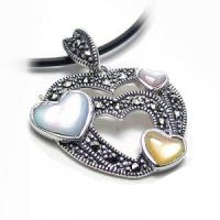Colourful Shells W-alloy Pendant of Thai Silver wi by Kangxiao