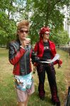 Summerstyle Demyx and Axel by KellyJane