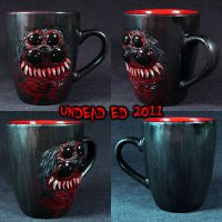 Spider Bite Deluxe Mug ooak by Undead-Art