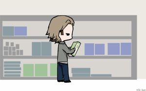 Day 8: Shopping (Sabriel version)[Gif] by Nile-kun