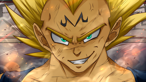 DBZ - Lets Redraw an Anime Szene - Majin Vegeta by RedViolett