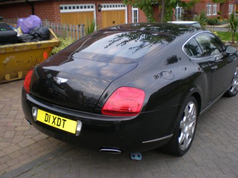 Bentley Continental GT Back by CollegeSpirit17
