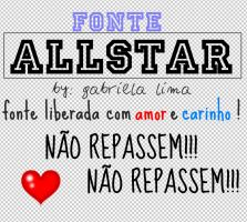 FONTE All Star by Gabrieladevonnelovat