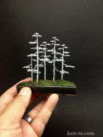 A wire bonsai tree forest by Ken To by KenToArt