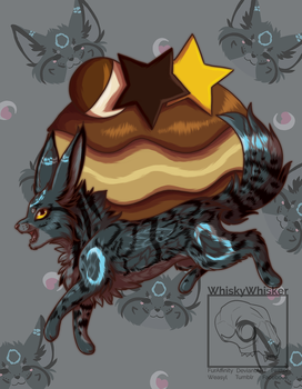 [Fanart] Umbreon Puff by WhiskyWhisker
