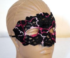 Mask with embroidery by dovespirit
