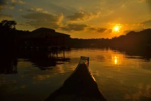 Sunset in the Amazon II by DurgaTruex