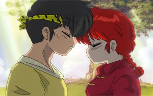 Ryoga and Ranma Female by Hainfinkle