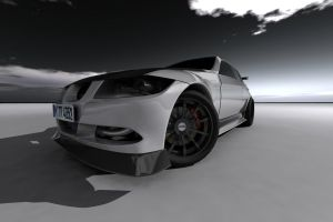 BMW 3 series sedan front view by yamell