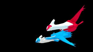 Latios and Latias - Chase by TheModerator