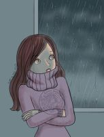 In home because of the rain and cold by aurangelica