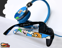 Adventure Time Headphones and Sunglasses Set by Ketchupize