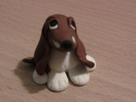 Bassethound fimo by bimbalove81
