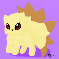 Chibi Ninetales by CollectionOfWhiskers