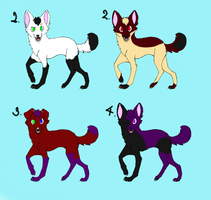 4 Adorable Adoptables. by Terohime