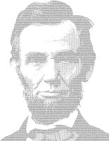 Abe Lincoln: Text Face by Qkew