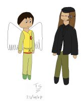 Aisha One and Angel Adric by AddieFanclub