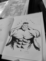 Hulk Con Sketch by FlowComa