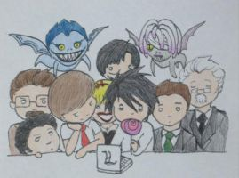The Death Note Crew by rachb23