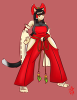 Neko Miko Sayuri (commission) by red-star-alchemy