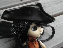 leather tricorn hat v2.0 by anthropochick