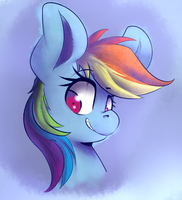 Painting-Rainbow Dash by SourSpot