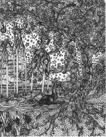 trees lineart - lucid by engraven