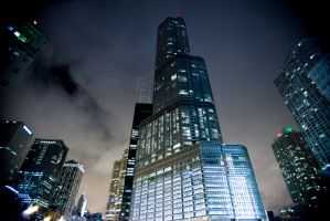 Trump Tower Night by BonaFideChimp