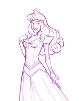 Princess Aurora +Sketch+ by 77Shaya77