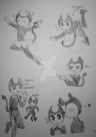 Bendy and The Ink Machine doodles by Mari-55
