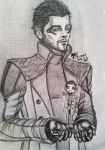 Adam Jensen and chibi Jensen by Shiya-na-chan