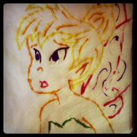 Napkin Art #20 - Tinkerbell by PeterParkerPA