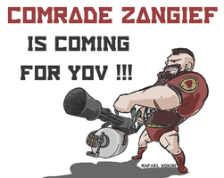 Zangief, the Heavy Weapons Guy by Kokiri-kun