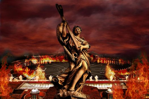 St. Peter's Square on fire by DonPate