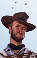 Clint Eastwood by markdraws