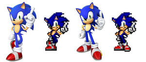 Sonic Generations Sonic 4 Pose by delvallejoel