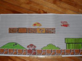 Beading Banner Plan: Super Mario Bros 8 bits by kayanah