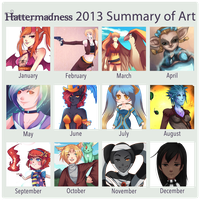 2013 Summary of Art by HatterMadness