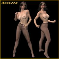 Adrianne pantyhose fighter by PaulPoser