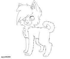 PUPPY LINEART. by Spywolfie3000